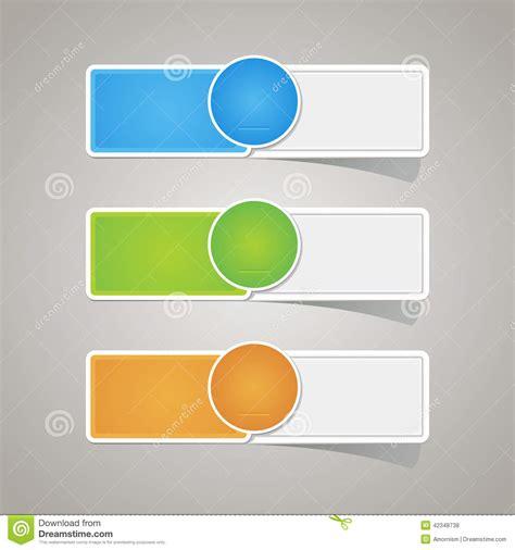 Colorful Set sticker label paper colorful set stock vector image 42348738