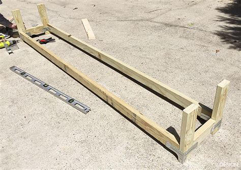 how to build a long bench easy diy outdoor banquette bench