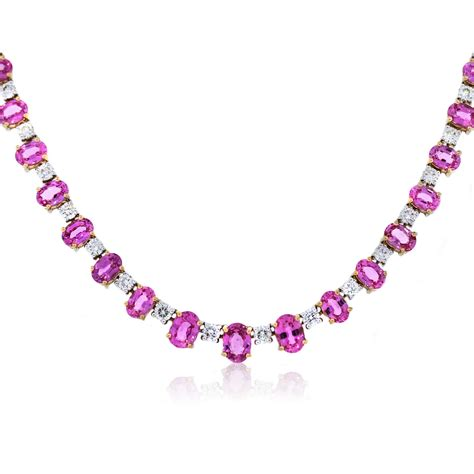 pink necklace pink sapphire and necklace pixshark com