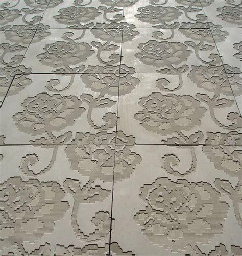 pattern concrete tiles teejay s backsplash lace embossed concrete tiles