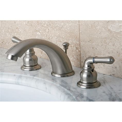 Bath Faucets by Satin Nickel Drip Free Widespread Bathroom Faucet