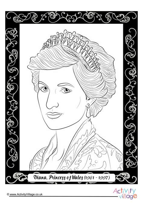 pin princess diana colouring pages on pinterest