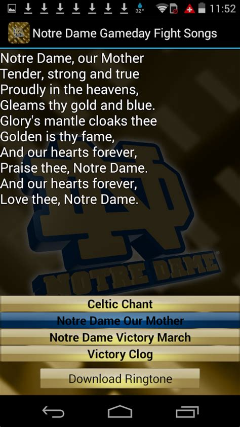 notre dame end of game song lyrics notre dame ringtones official android apps on google play