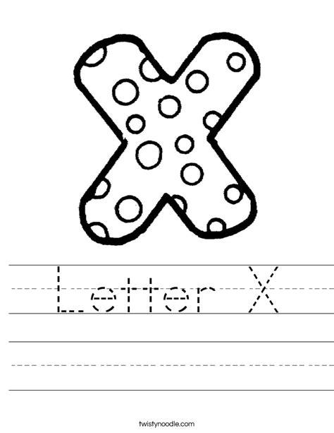 Letter X Worksheets by Letter X Worksheet Twisty Noodle