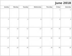 June 2018 Calendar Printable June 2018 Printable Blank Calendar