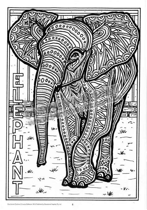 Free Coloring Pages Of Aboriginal Elephant Aboriginal Animal Colouring Pages