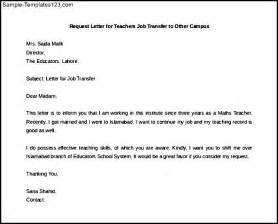 Cover Letter For Transfer by Sle Letter Transfer Request Cover Letter