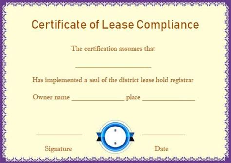 Certificate Of Compliance Template Colbro Co Reach Certificate Template
