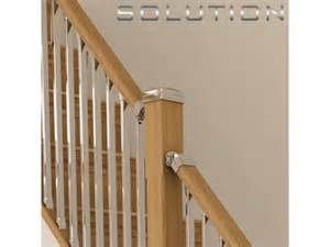 chrome banister rail solution stairparts chrome spindles oak staircase parts