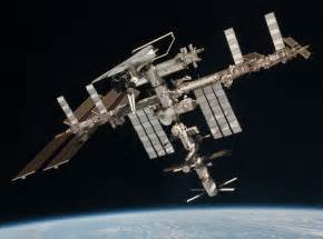 international space station iss with shuttle endeavour