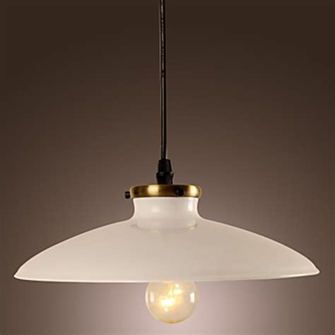 White Metal Pendant Light 60w Contemporary Pendant Light With White Metal Plate Shade In Countryside Style Favething