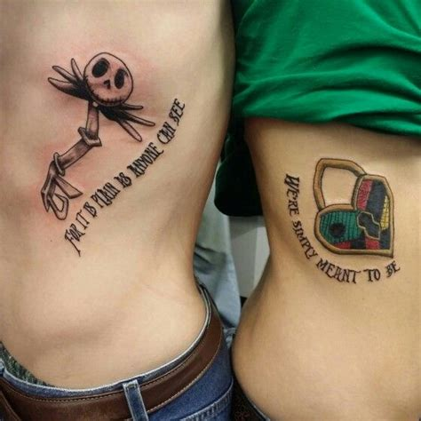 nightmare before christmas couples tattoos and sally key and portfolio