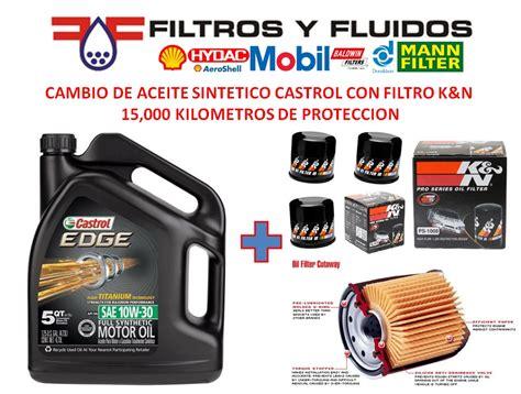 cambio en mercadolibre mxico cambio aceite sintetico castrol 10w 30 nissan con filtro k