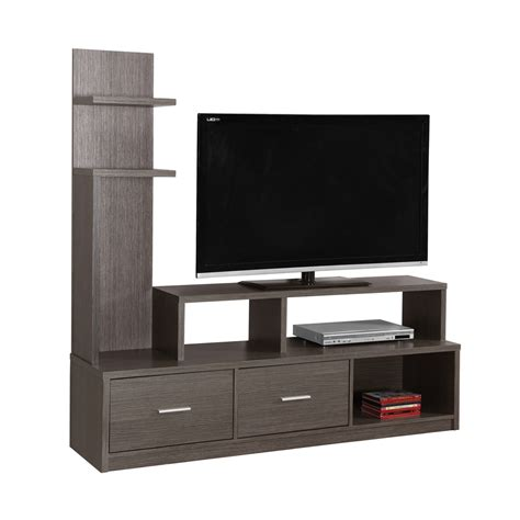 l on a stand tv stand 60 quot l grey with a display tower