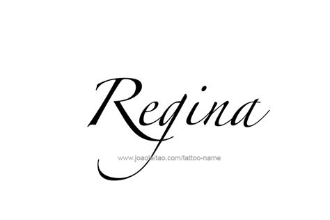 regina name tattoo designs