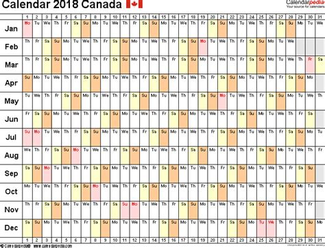 Calendar 2018 Canada Calendarpedia Canada Calendar 2018 Free Word Calendar Templates