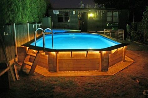 pool deck lighting above ground pool deck ideas awesome wooden deck above