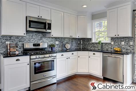 Kitchen Backsplashes With Granite Countertops by White Kitchen Cabinets Cabinets Com
