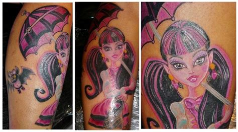 monster high tattoos draculaura she is my favorite high character i
