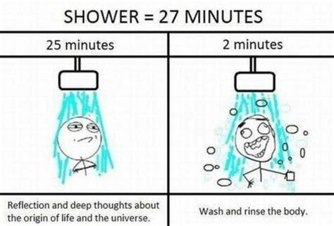 Shower Meme - obsession with story
