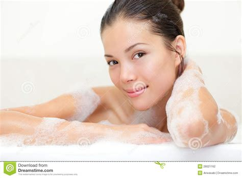 women in bathroom beauty portrait of woman in bath stock photography image