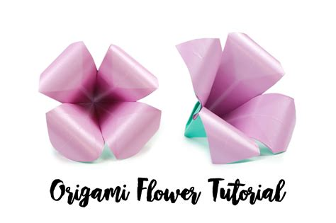 How To Make A Small Origami Flower - how to make an easy origami flower