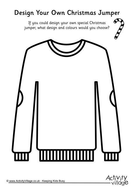 Design Your Own Christmas Jumper Jumper Day Template Letter