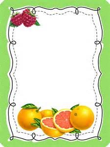 imagen de decoracion de caratula cart frutas caratulas frutas