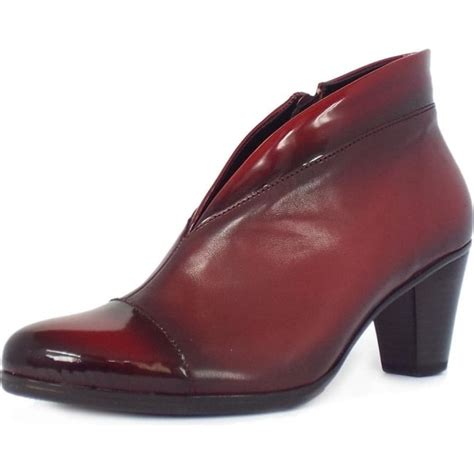 gabor boots enfield leather and patent ankle boots