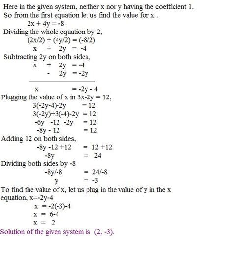 Systems Of Equations Substitution Method Worksheet Answers by Solving By Substitution Method Page 2