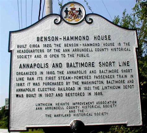 benson hammond house historical markers marker details