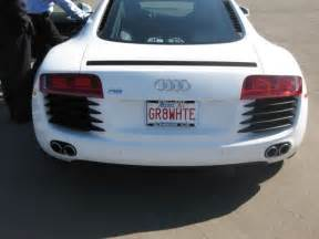 personalize plates 10 seriously cool vanity plates vanity plate audi r8 and audi