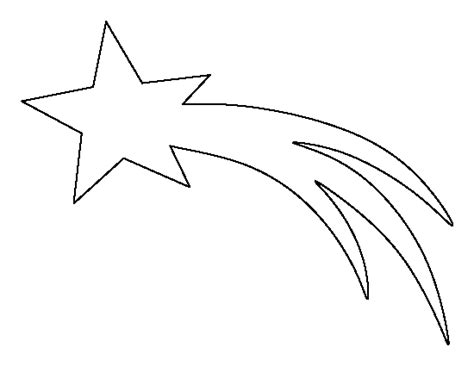 star pattern in c pdf shooting star pattern use the printable outline for
