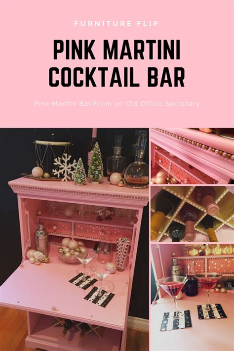diy martini bar how to a pink martini bar diy crafts plaid