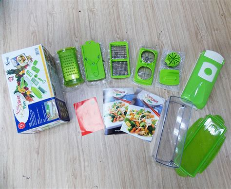 Sale Nicer Dicer Plus Multifungsi Chopper Sayur Buah Stainless multi kitchen cutter set alat pemotong buah sayur genius nicer dicer plus 11in1 parutan salad keju