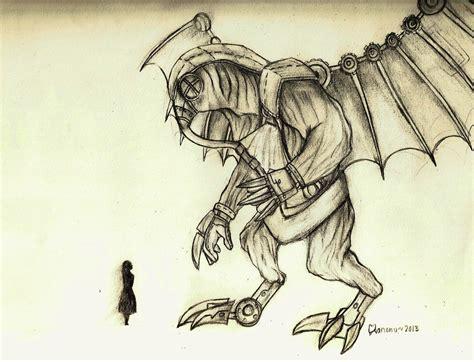 bioshock infinite songbird sketch by kanonu on deviantart