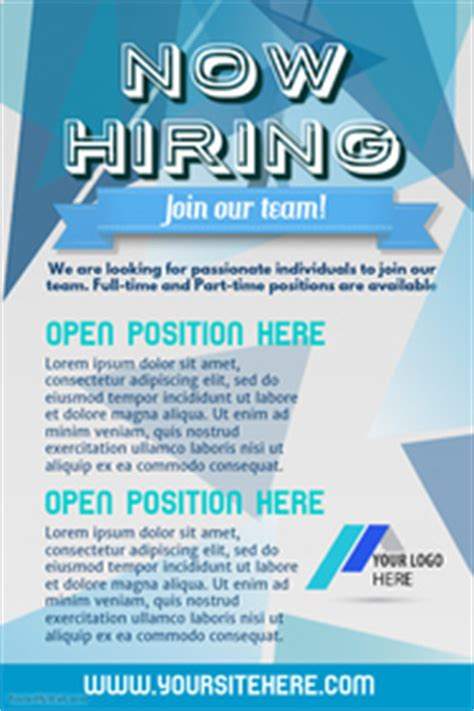 Customize 540 Hiring Poster Templates Postermywall Hiring Ads Templates