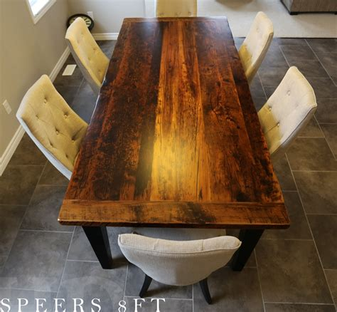 mennonite furniture kitchener reclaimed wood harvest table in kitchener ontario home