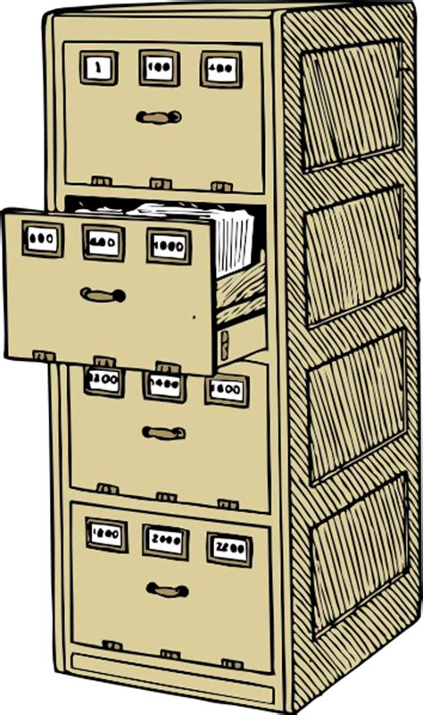 Vertical File Cabinet Clip Art at Clker.com   vector clip