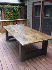 diy farmhouse bench 25 best 25 diy outdoor table ideas on patio