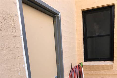 practice  replacing  steel door frame sdc projects
