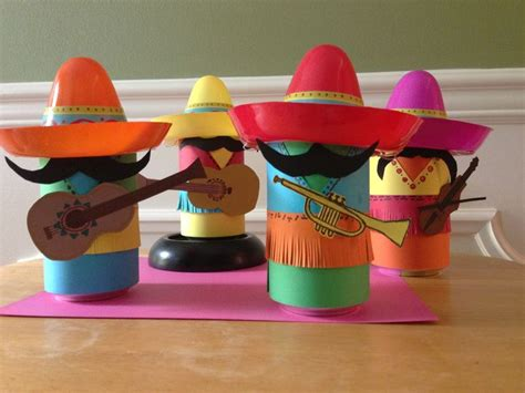 How To Make Mexican Paper Decorations - coke can mariachi band i made for a themed