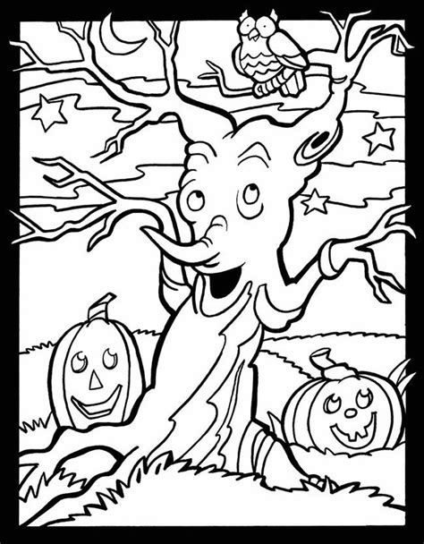 haunted tree coloring page 1000 images about coloring pictures on pinterest