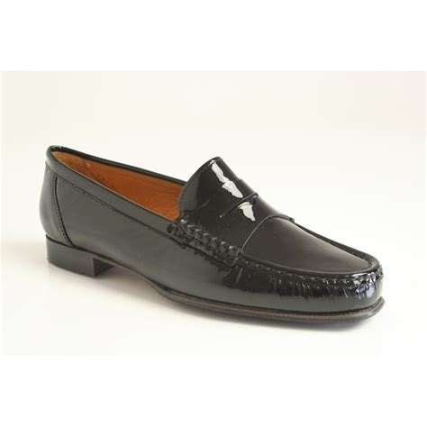 black patent loafer pascucci black patent leather loafer moccasin 1799
