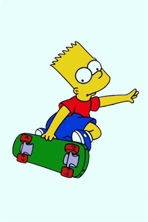 hd iphone wallpapers  bart simpson skateboarding