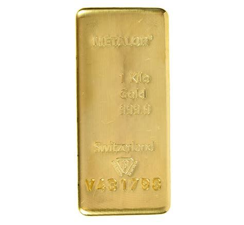 1 Kilo Silver Bar Dimensions by Metalor 1kg Gold Investment Bars Bullionbypost From 163