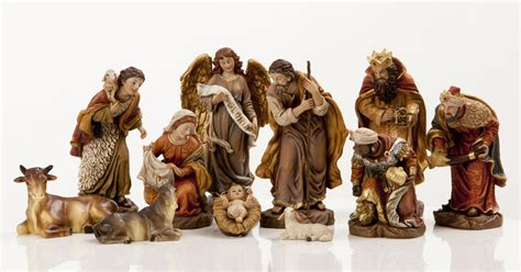 new 6 quot heaven s majesty nativity figure set wood carved