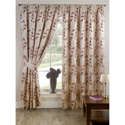 Patterned Drapes And Curtains Davina Fully Lined Ready Made Floral Patterned Curtains