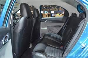 Seat Cover Tiago Tata Tiago Rear Seat At Geneva Motor Show 2016 Indian