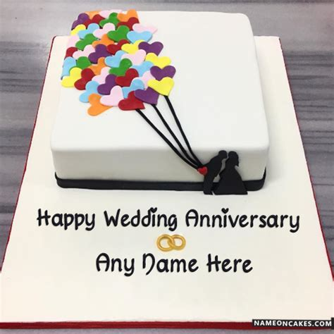 Wedding Anniversary Wishes With Cake by Top Happy Anniversary Cakes With Name